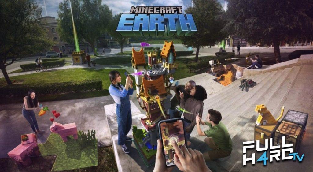 imagen promocion de la aplicacion Minecraft Earth