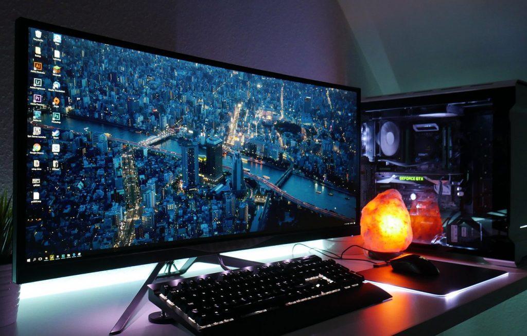 monitores gamer pc gamer