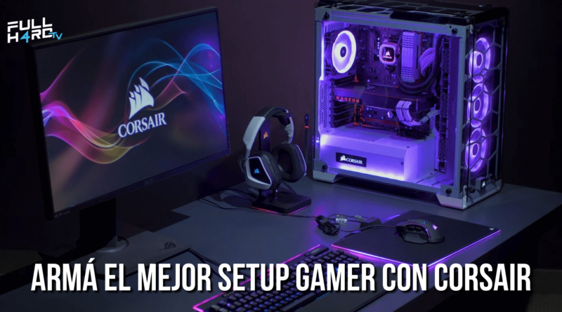 setup gamer corsair